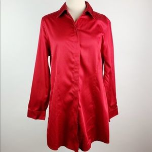 Chico's No Iron Button Down Top Size 1.5
